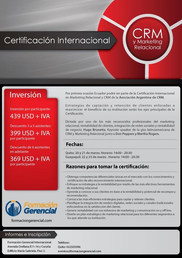 Certificacion CRM en Ecuador